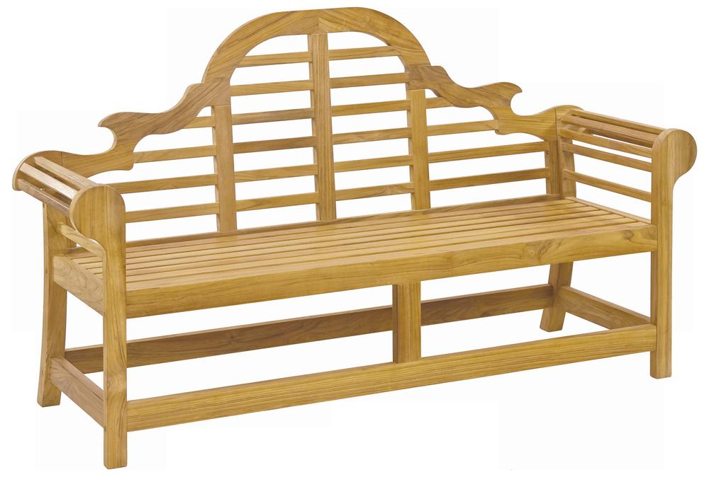 banc teck lutyens 1 8 m. Black Bedroom Furniture Sets. Home Design Ideas