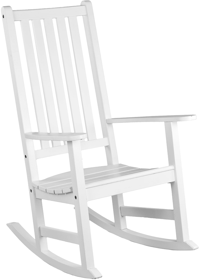 rocking chair blanc new england. Black Bedroom Furniture Sets. Home Design Ideas