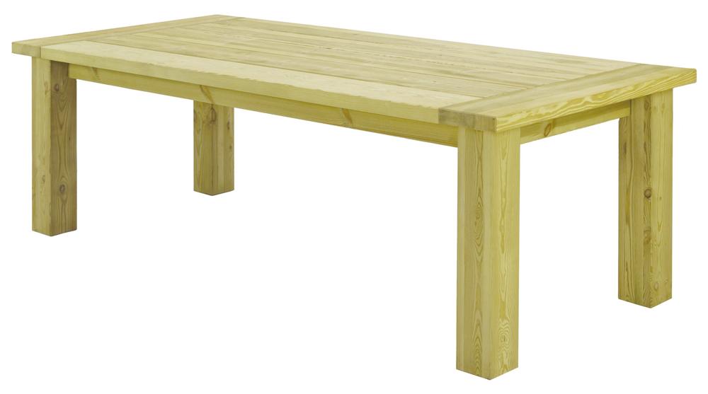 Table fermi re rustique en pin 2 3 x 1 m for Table en pin