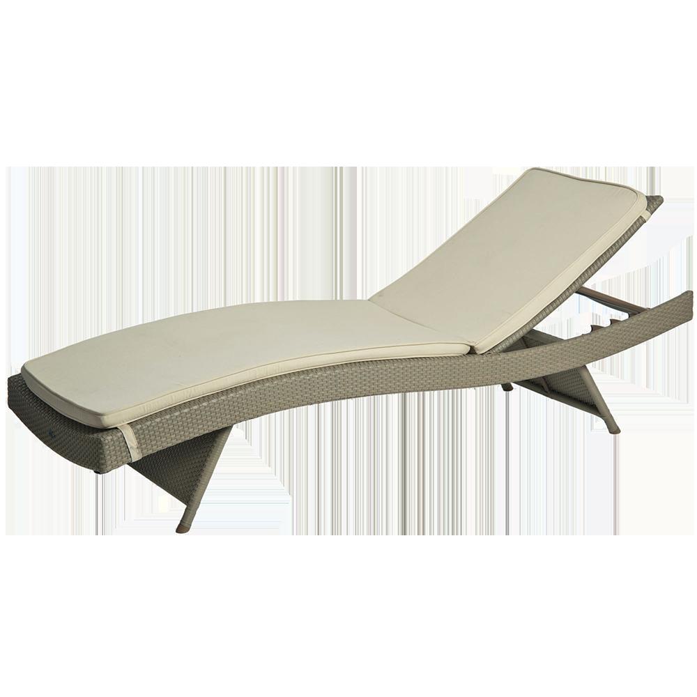 bain de soleil r glable avec coussin cru. Black Bedroom Furniture Sets. Home Design Ideas