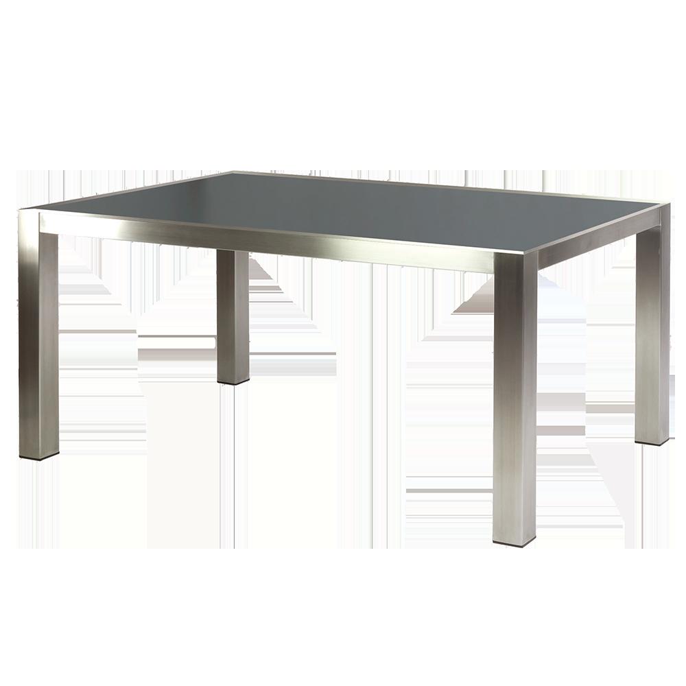 Table inox et teck ou grc 1 5 x 0 9 m for Table exterieur inox