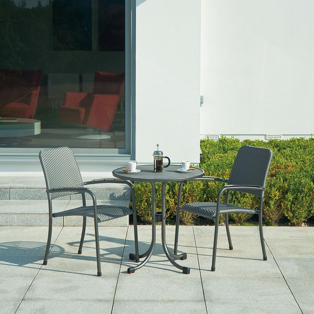 Table ronde portofino bistro diam tre 0 7 m - Salon de jardin fin de serie ...