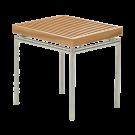 Tabouret bas - table basse Avant en teck et inox brossé