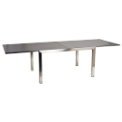 Table extensible en inox et céramique gris anthracite