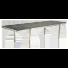 Table extensible Cologne en inox et céramique gris anthracite avec rallonge intégrée