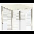 Table carréeCologne en inox et céramique ivoire