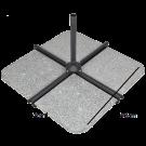 Pied de parasol granit 40 kgs pour parasol déporté (UHP) (4pièces ou monobloc)