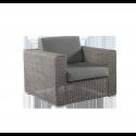 Fauteuil Lounge Monte Carlo gris vintage avec coussins