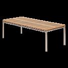 Table rectangulaire avant 1m x 2.4 m inox brosse