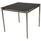 Table avant inox 0.8 x 0.8 m plateau Teck ou GRC