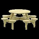 Petite table pique-nique en pin Gleneagles.