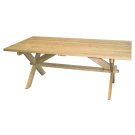 Table rectangulaire en Pin 1.9 x 1 m