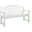 Banc Turnberry blanc 1.54 m