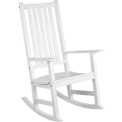 Rocking chair blanc New England