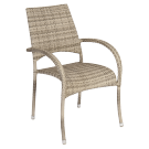 Chaise avec accoudoirs Fiji Ocean Pearl empilable