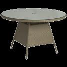 Table ronde Havana diamètre 1.2 m avec sur-plateau verre