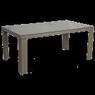 Table rectangulaire Havana 1x1.7 m avec sur-plateau verre