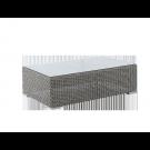 Table basse Monte Carlo gris vintage 1 x 0.6m avec verre
