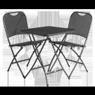 Ensemble 2 chaises et 1 table carrée 60 x 60 cm pliantes