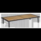 Table basse gris anthracite Beach 122 x 70 x 22.5 cm avec plateau roble