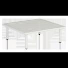 Table basse carrée blanche Beach 70 x 70 x 22.5 cm avec plateau aluminium