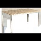 Table rectangulaire Cologne en inox et roble
