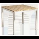 Table carrée Cologne en inox et roble