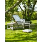 Chaise longue ashley avec repose pieds et coussin