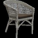 Chaise repas Emma coussin blanc inclus