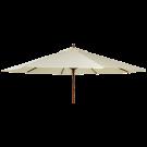 Parasol bois rond diamètre 2,7 m-tube 38 mm-vert-ecru-taupe