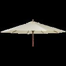 Parasol bois rond diamètre 3m-tube 38mm-vert-ecru-taupe